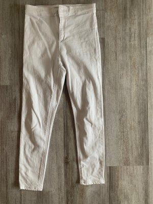 Topshop Petite Jeans a vita alta bianco