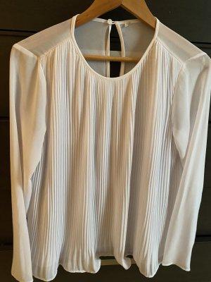 Weiße Plissee Bluse, Michael Kors