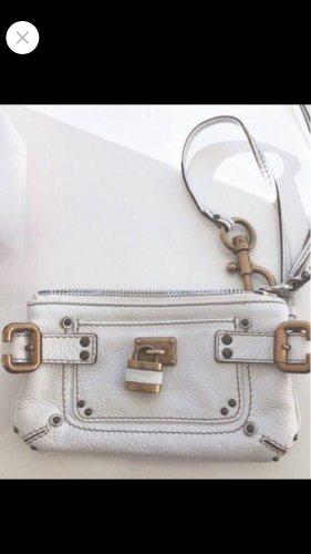 Chloé Bolso tipo pochette blanco-color oro Cuero