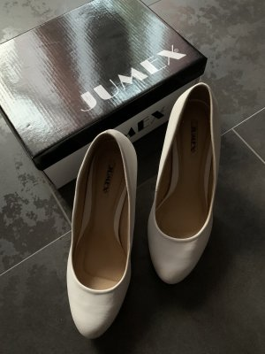 Jumex Platform Pumps white