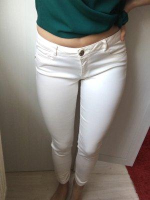Weiße-rosé Zara Skinny Jeans