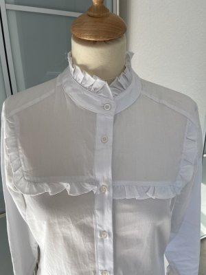 """Weiße Rüschenbluse von """"The Shirt Company"""" / Gr. 34"""