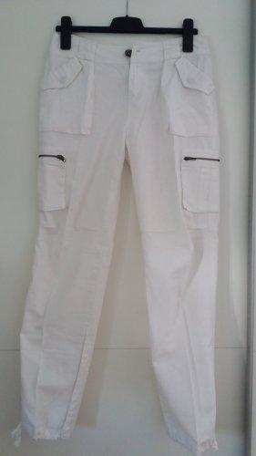 Pantalon en lin blanc lin
