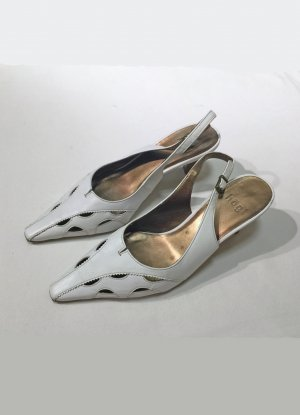weiße Sandale mit hohem Absatz von Högl, Größe 5 1/2