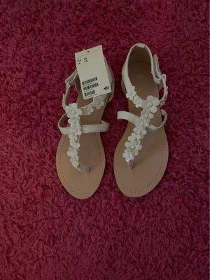 H&M Sandalen met bandjes wit