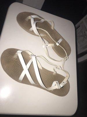 Comfortabele sandalen wit-bruin