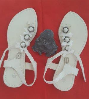 weiße Sandalen Gr. 38