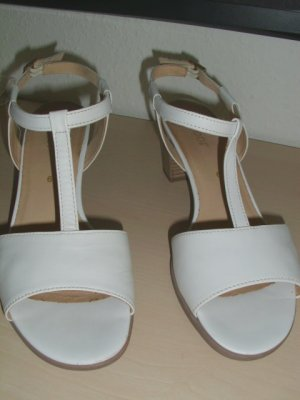 Gabor Strapped High-Heeled Sandals white