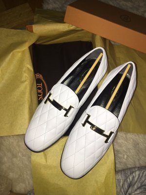 Tods Moccasins white