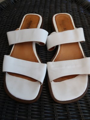 Heel Pantolettes white leather