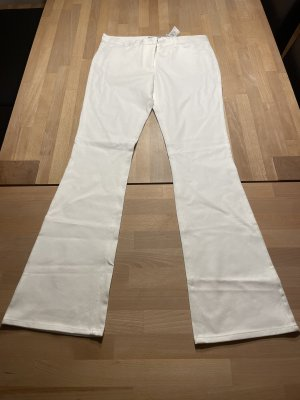H&M Pantalón de campana blanco