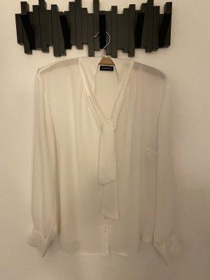 Taifun Tie-neck Blouse white