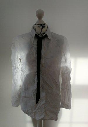Parisian Blouse avec noeuds noir-blanc