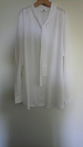 Uniqlo Blusa con lazo blanco