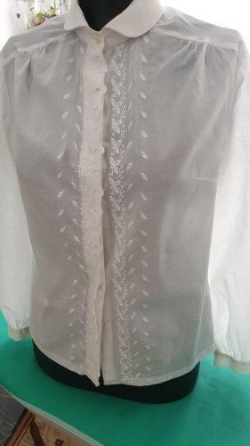 weiße schöne Bluse Gr.38 steht 40