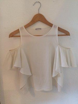 Weiße Schulterfreie Bluse