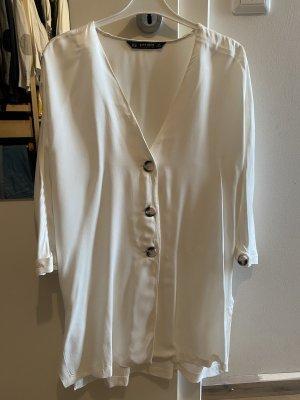 Zara Jedwabna bluzka biały