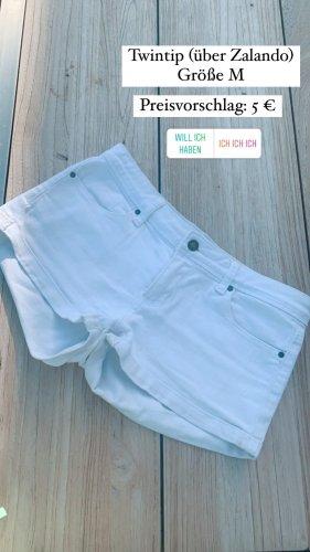 Twintip Denim Shorts white