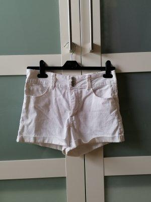 C&A Clockhouse Pantalón corto de talle alto blanco