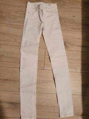 Weiße skinny Hose von Zara