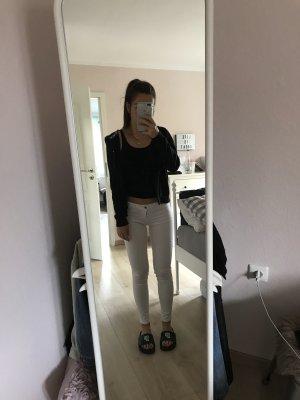 Weiße skinny Jeans Abercrombie