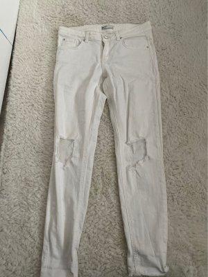 Weiße skinny Jenas