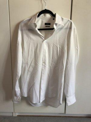 Weiße Slim Fit Bluse von Hugo Boss