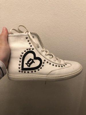 High Top Sneaker black-white