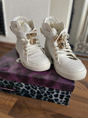 Weiße Sneaker Kroko super edel