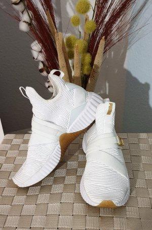 weiße Sneaker mit Schnallen von Puma