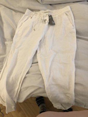H&M Pantalone di lino bianco