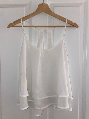 Zara Zijden blouse wit
