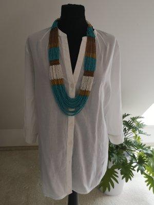 Walbusch Blusa larga blanco Algodón