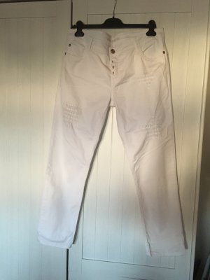 Blue Fire Pantalon cinq poches blanc