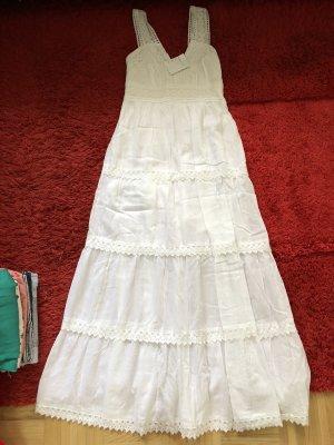 Weiße Spitzen Kleid