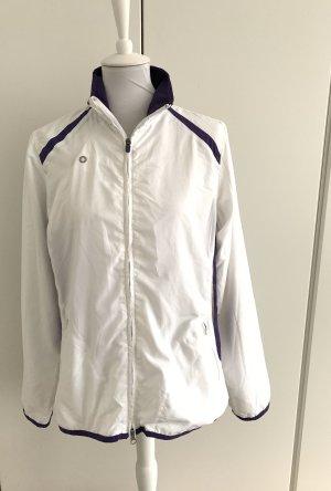 Tchibo / TCM Sports Jacket white-dark violet