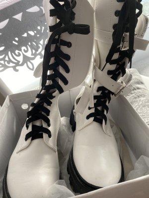 Combat Boots white-black