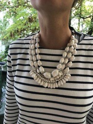 by Malene Birger Statement Necklace white-black