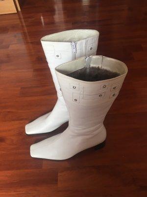 Elegante Laarzen met bont wit-grijs-bruin