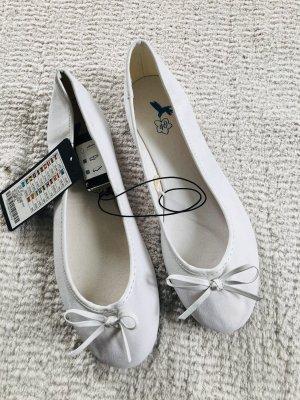 Weiße Stoffballerinas / Gr. 40 / NEU mit Etikett