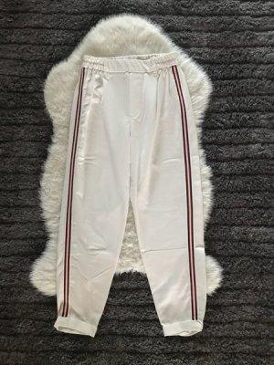 Berta Sportbroek wit-rood