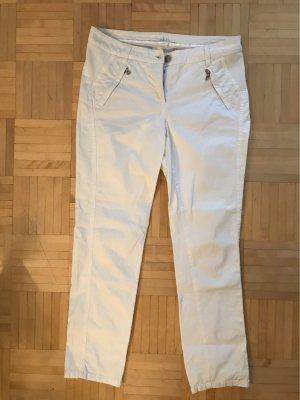 Cambio Jeans Spodnie materiałowe biały