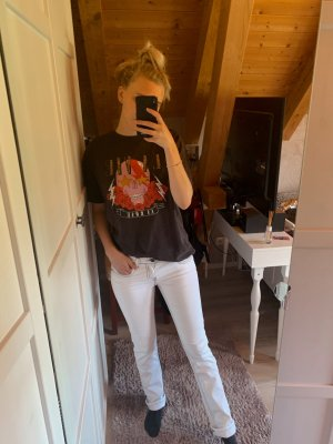 ATT Jeans Jeansy z prostymi nogawkami biały-czarny