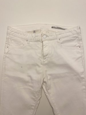 Weiße Stretch-Hose mit Beschichtung