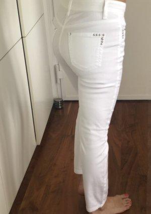 Weiße Stretch-Jeans von CAMBIO