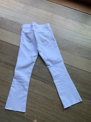 Weiße Stretchjeans