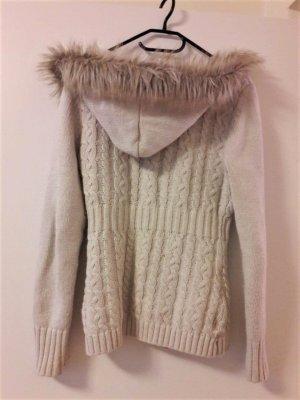 weiße strick Jacke Pullover