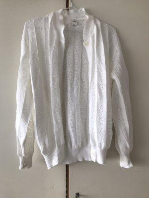 Unbekannte Marke Knitted Vest white