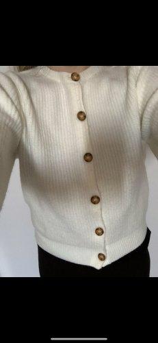 H&M Veste en tricot blanc