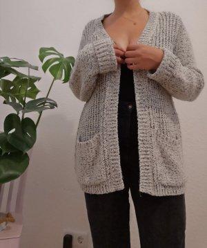 edc by Esprit Cardigan a maglia grossa bianco-grigio chiaro